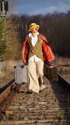Clown auf Reisen