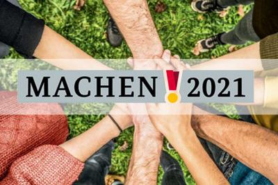 Machen 2021 Der Ehrenamtswettbewerb geht im Jahr 2021 in eine neue Runde.