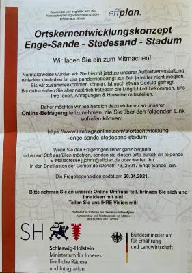 Ortsentwicklungskonzept Enge-Sande - Stedesand - Stadum
