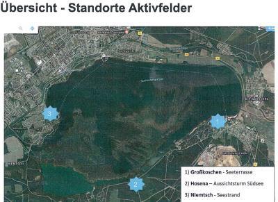 Foto zur Meldung: Fitness im Lausitzer Seenland – Aktivfelder entstehen entlang der Senftenberger See-Laufstrecke