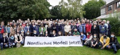 Foto: Teilnehmer*innen der Bündnistagung im September 2020 in Bonn, © Bettina Flitner
