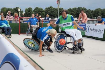 1. deutsch-holländische Rollstuhlhandball-Meisterschaft