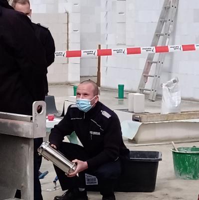 Foto zur Meldung: Grundsteinlegung Feuerwehr Zinndorf - 08.April 2020