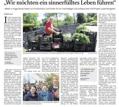 Solidarische Landwirtschaft (Solawi) in Enge-Sande