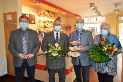 von links: Dr. Oliver Hermann, Wolfgang, Ulf und Gisela Grünberg I Foto: Martin Ferch