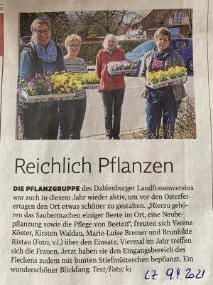 Vorschaubild der Meldung: Pflanzgruppe der LandFrauen Dahlenburg war wieder aktiv