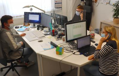 Das Team des Impf-Telefons der Kyritzer Stadtverwaltung