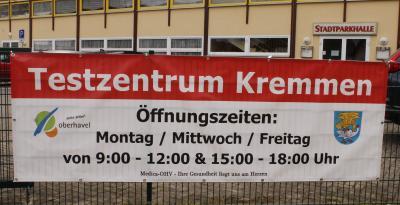 In Kremmen eröffnet ein Testzentrum!