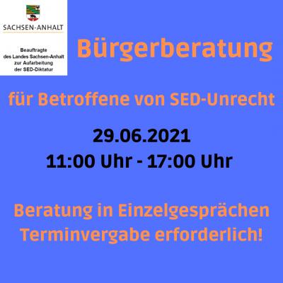 Bürgerberatung 29.06.2021