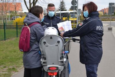 Foto zur Meldung: Direktionsweite Kontrollen des Fahrradverkehrs auch in Lübbenau/Spreewald