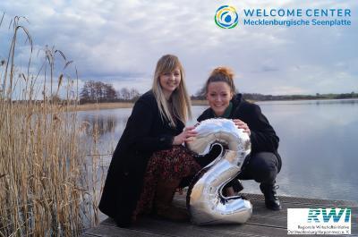 2 Jahre Welcome Center MSE (Team: Stephanie Lubig (l.) und Dajana Vater (r.)