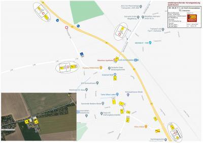 Foto zur Meldung: Sperrung der Einmündung Groß Ammensleben B71/L 44 Haldensleber Straße