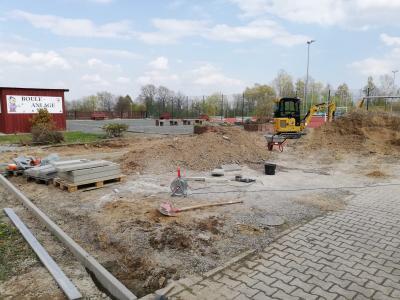 TSV Kirchdorf - Aussengelände Bauarbeiten und Baufortschritt am Parkplatz