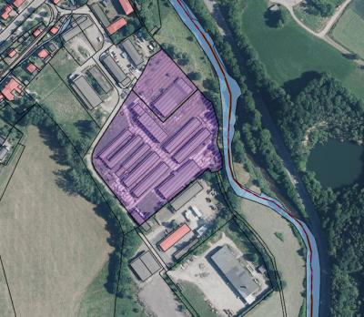 """Geltungsbereich der Satzung: Vorhabenbezogener Bebauungsplan """"Gewerbefläche an der Chemnitz"""""""