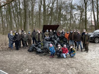 Stadtwald: Müllsammelaktion erfolgreich abgeschlossen!