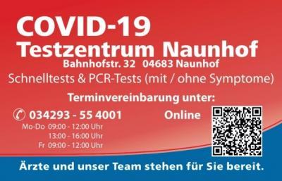 Das Covid-19 Testzentrum in Naunhof informiert