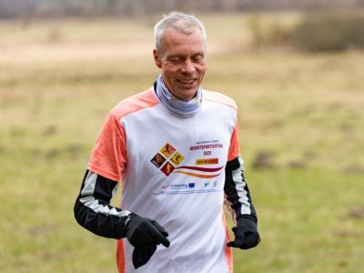 Das Foto zeigt Michael Heuck, der zum 3.Mal beim Internationalen virtuellen Ausdauersportfestival startet. Foto: Ralf Sawacki