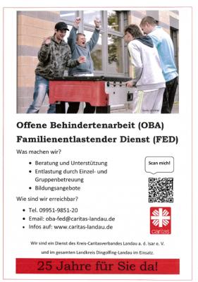 Bild der Meldung: Offene Behindertenarbeit (OBA) und Familienentlastender Dienst (FED) durch die Caritas