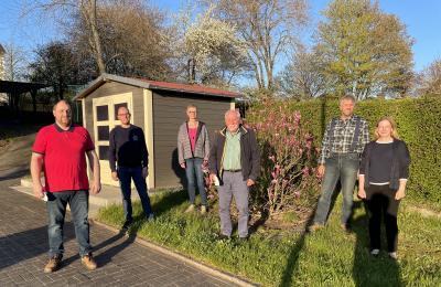 Unser Bild zeigt von links nach rechts: Thomas Sorg, Jonas Ott, Elke Heine, Hans-Georg Meinen, Wolfgang Busch und Katrin Wegener