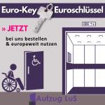 Eurokey / Euroschlüssel für behindertengerechte Toiletten Aufzüge Fahrstühle Treppenlifte - Aufzug LuS