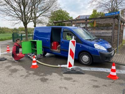 Pumpversuche in Rußheim gestartet