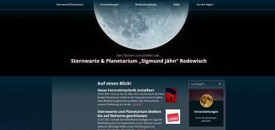Neue Homepage für Rodewischer Sternwarte