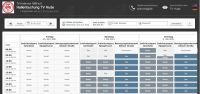Neues Buchungssystem für Individualsport und Bewegungslandschaft online