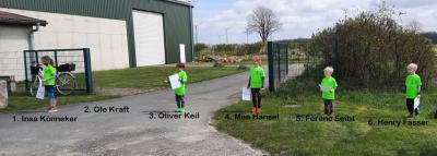 Siegerehrung 600m Kinderlauf