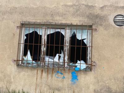 Vandalismus in Damsdorfer Kaserne