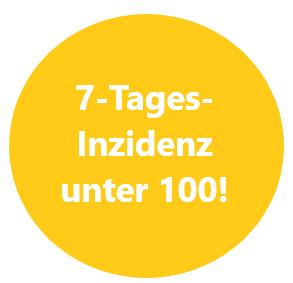 Foto zur Meldung: +++ 7-Tages-Inzidenz UNTER 100 ++ Neue Regelungen ab 05.05.2021