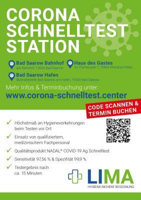 Neueröffnung von Corona-Schnelltest-Stationen am Scharmützelsee
