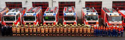 Dank an die Feuerwehrleute