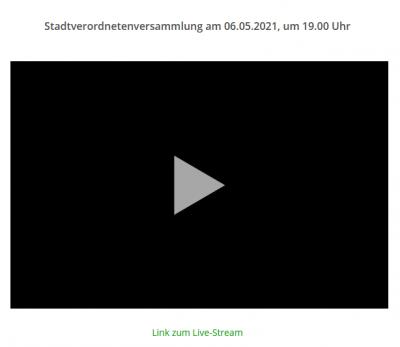 Stadtverordnetenversammlung am Donnerstag wieder im Live-Stream