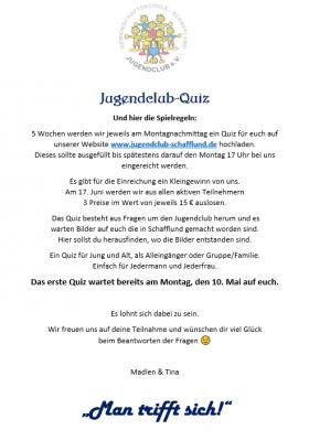 Jugendclub - Quiz
