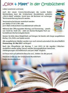 """""""Click & Meet"""" in der Ortsbücherei"""