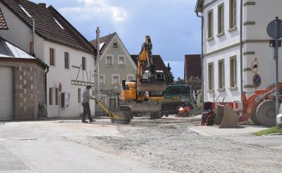 Baustelle Reichelshofer Straße April 2021