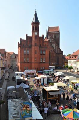 Stadt Perleberg | Blick von oben auf den Frischemarkt