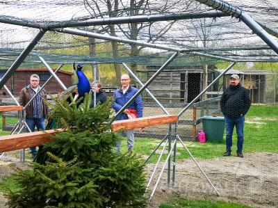 Bild der Meldung: Neue Vogelvoliere im Streicheltierhof ist fertig
