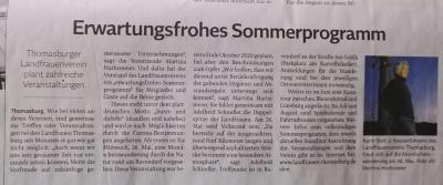 LFV Thomasburg: erwartungsfrohes Sommerprogramm