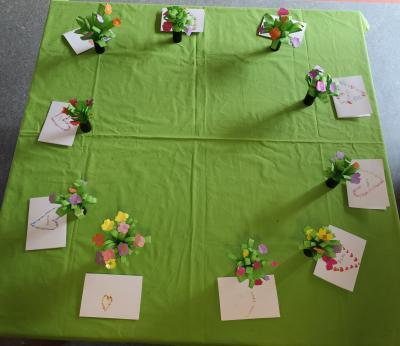 Foto zur Meldung: Muttertagsbasteln Klasse 2