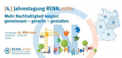 """Rückblick: 4. Jahrestagung RENN.mitte """"Mehr Nachhaltigkeit wagen! Gemeinsam – gerecht – gestalten"""" am 25. März 2021"""