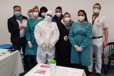 Foto zur Meldung: Personelle Unterstützung für Lübbenauer Schnell-Testzentren gesucht