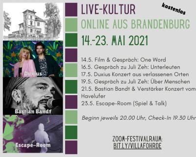 Foto zu Meldung: Kulturfest Online 14.-23. Mai