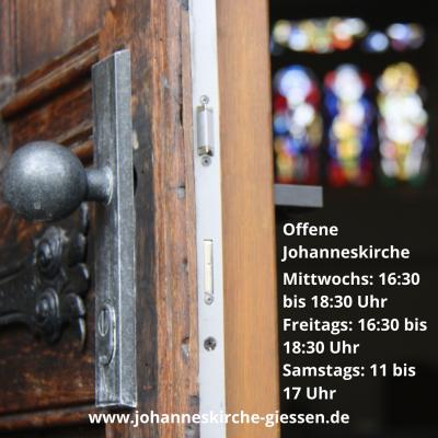 Foto zur Meldung: Erweiterung der Öffnungszeiten der Gießener Johanneskirche
