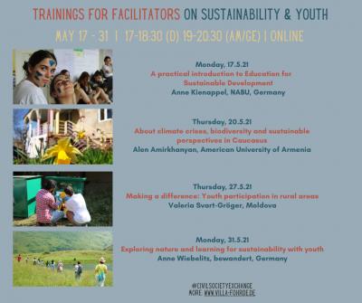 Foto zur Meldung: Online-Trainings zu Nachhaltigkeit & Jugendbeteiligung