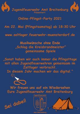 Jugendfeuerwehr Online Pfingst Party