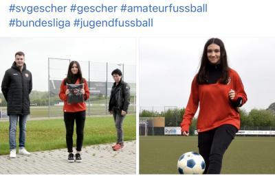 Gescheranerin spielt in der Bundesliga
