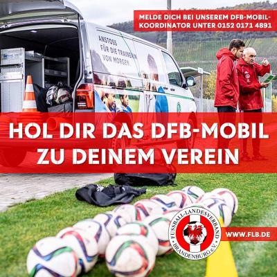 Holt euch das DFB-Mobil zu eurem Verein!