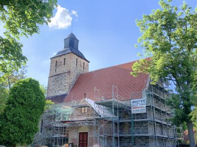 Dachsanierung Kirche Schönermark