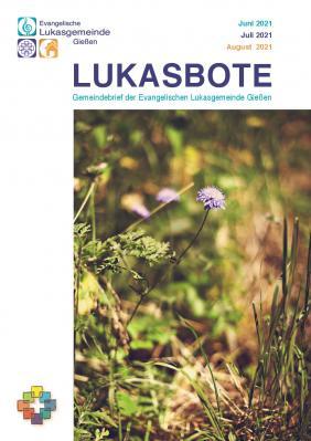 Lukasbote Juni bis August 2021 (Titelseite)